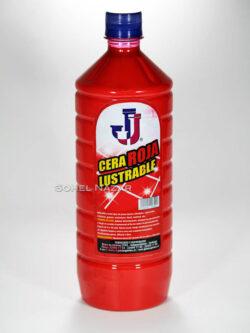 Cera Roja Lustrable JJ para Pisos 1 Litro.