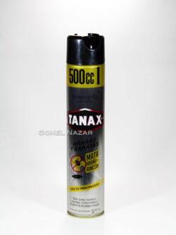 Insecticida en Aerosol TANAX Arañas y Baratas Super Activa.