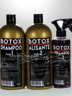 Pack Botox Shampoo, Alisante y Sellador. 3 Pasos.