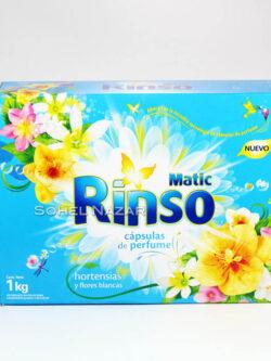 Capsulas RINSO MATIC Hortensias y Flores Blancas.