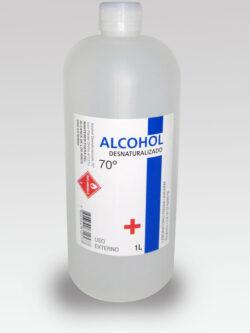 Alcohol Desnaturalizado 70° 1 litro.