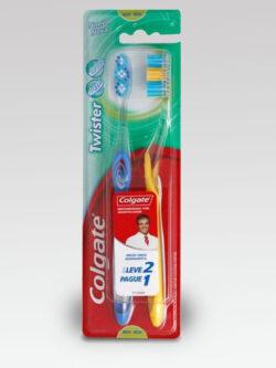 Cepillo Dental Twister Fresh Medio 2 unidades.