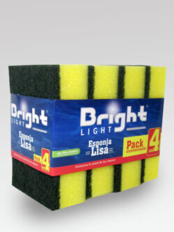 Pack Esponja Lisa BRIGHT LIGHT 4 Unidades.