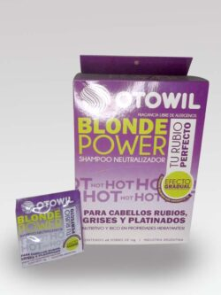 Shampoo Neutralizador Blonde Power OTOWIL sachet.
