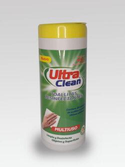 Toallitas Desinfectantes Aroma Limón Ultra Clean.