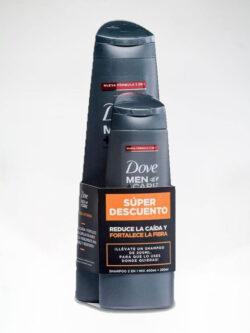 Shampoo 2 en 1 Mix DOVE Men + Care.