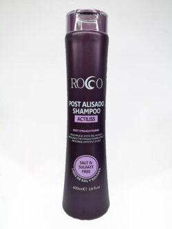 Shampoo Post Alisado ROCCO 400ml Actiliss.
